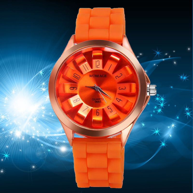fashion Ordinary glass mirrorMen s watch (1-yellow)NHMM2027-1-yellow