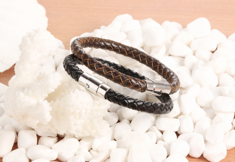 Occident and the United States Cortex Weaving bracelet (Black 22CM) NHOP0895