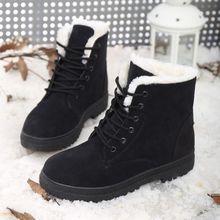 跨境冬季雪地靴女大码女鞋棉鞋短筒保暖女士短靴加绒加厚一件代发