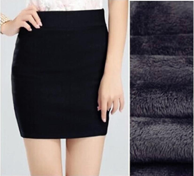 一件代发包邮新款加绒保暖包臀裙西装职业ol裙子秋冬韩版半身短裙