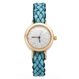 2015 ladies leisure fashion watch multicolor woven leather quartz watch bracelet watch