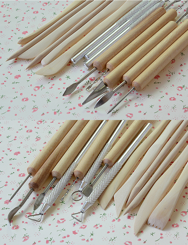 Buy 14pcsc/set Fimo clay tools clay knife  hand to do DIY handmade pottery sculpture modeling tool  hot sale cheap