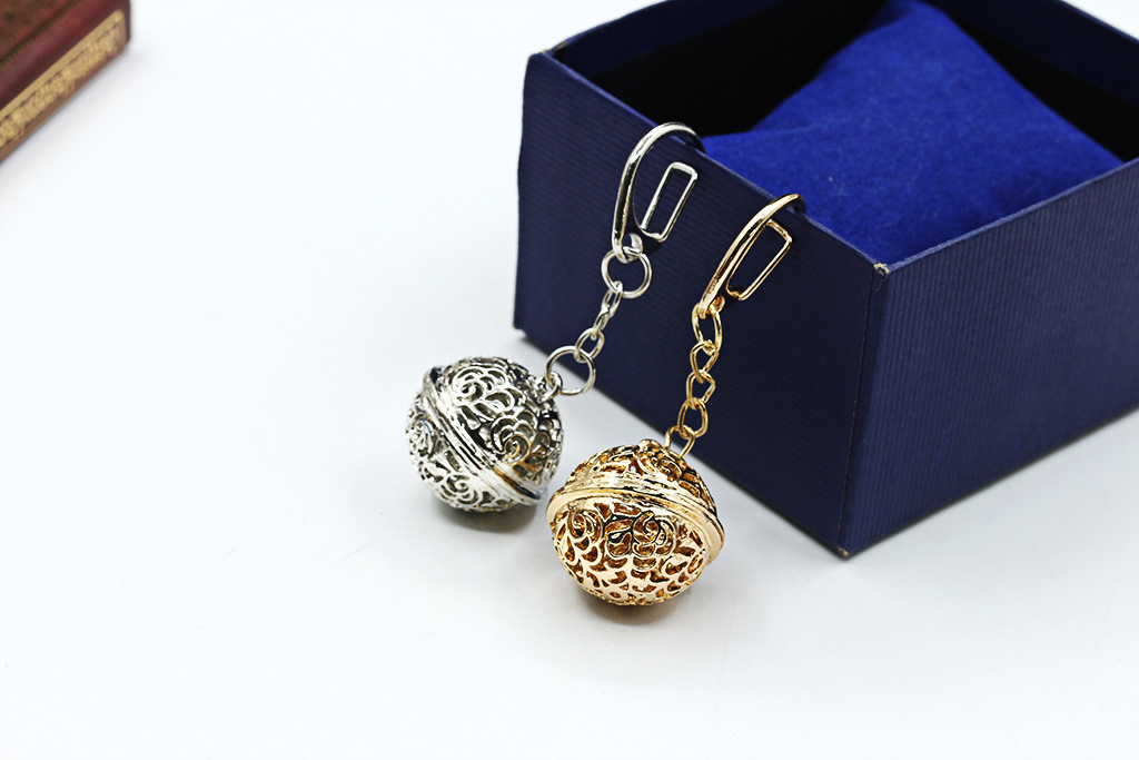 Palace bell accessories key ring alloy hollow ornaments NHDP175045