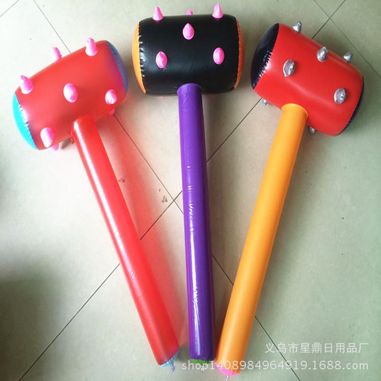 充气棒锤玩具 PVC彩色狼牙锤充气锤圣诞晚会道具 充气玩具