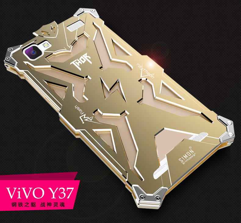 SIMON THOR Aviation Aluminum Alloy Shockproof Armor Metal Case Cover for vivo Y37