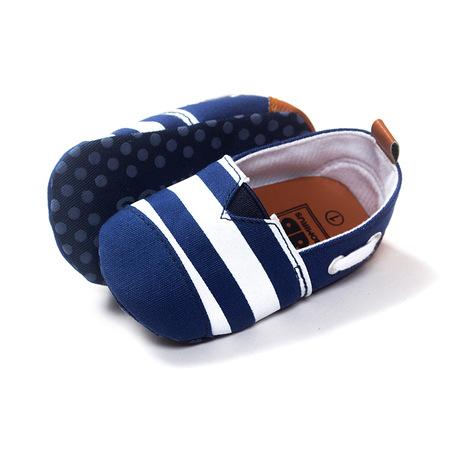 Ngoại thương gió hải quân cho bé giày chống trượt đế mềm cho bé mới biết đi Giày vải bé 0-1 tuổi xuân và mùa thu 4934 Giày cao cổ