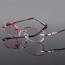 供应韩国钻石切边钛合金眼镜 女式商务眼镜架 厂家批发1002