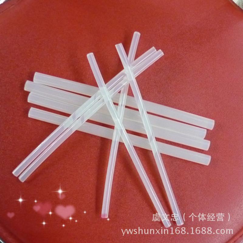 2017熱批膠棒熱溶膠條 7X180MM透明DIY手工配件膠棒熱熔膠