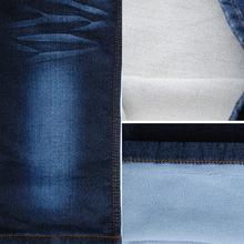 【工厂直销】秋冬季针织牛仔布料弹力毛圈底针织牛仔布