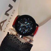 古欧 潮流 GUOU耐用 水钻满钻时尚个性 女士手表 爆款 皮表带