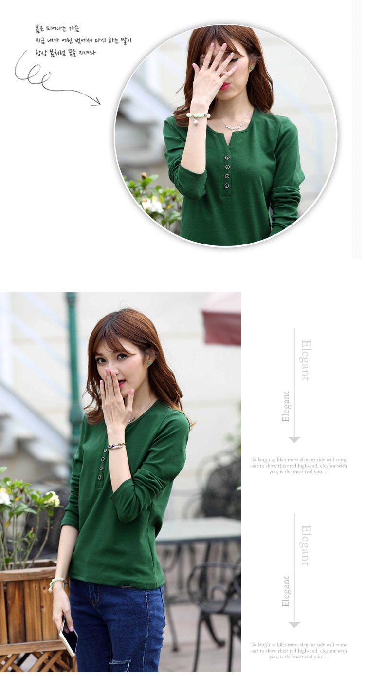 2313175063 1632579699 - New Autumn Long Sleeve t-shirt Solid Womens Tops Fashion
