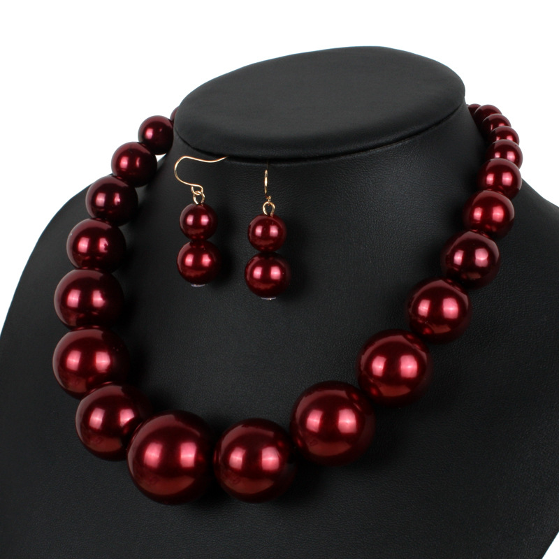 Occident and the United States pearlnecklace (red)NHCT0070-red