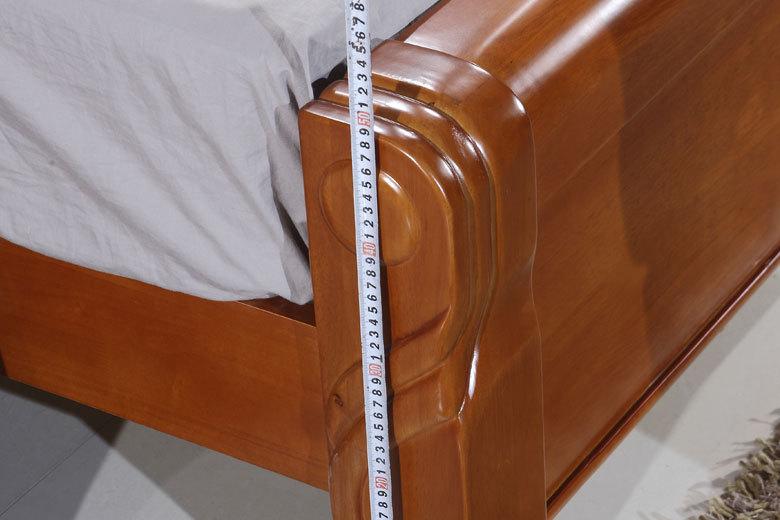全实木床保证特价1.5 1.8米双人床 中式床雕花床批发6031厂家直销
