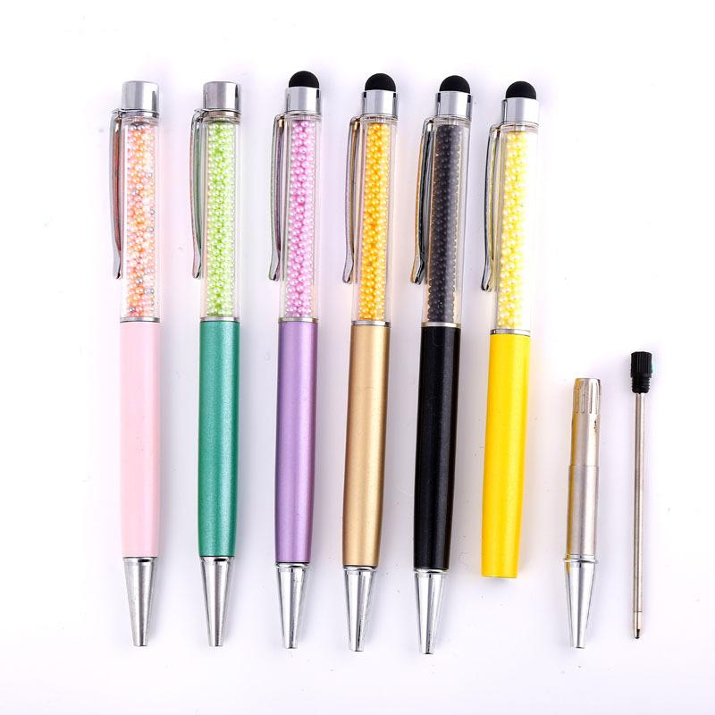 特价批发金属笔珍珠平头电容笔 实力厂家供应创意电容钻石圆珠笔
