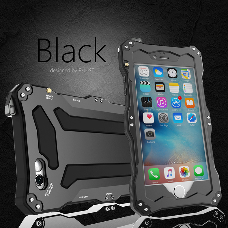 R-Just Gundam Water-resistant Shockproof Dirt-proof Snow-proof Premium Armor Heavy Duty Metal Protective Case Cover for Apple iPhone 6S/6 & iPhone 6S Plus/6 Plus