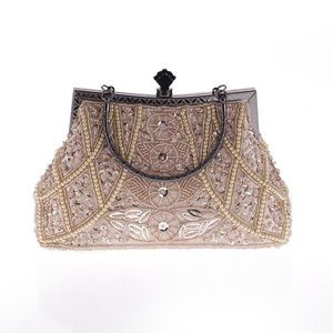 Retro Bag, lady's Metal embroidered bead bag