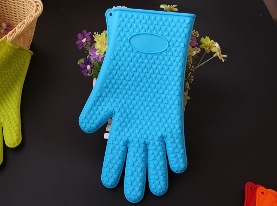 Microwave oven baking gloves silicone kitchen supplies insulated five-finger gloves NHJA204097