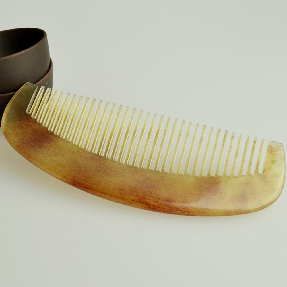 厂家直销  圆齿羊角梳子 淘宝热销牛角批发