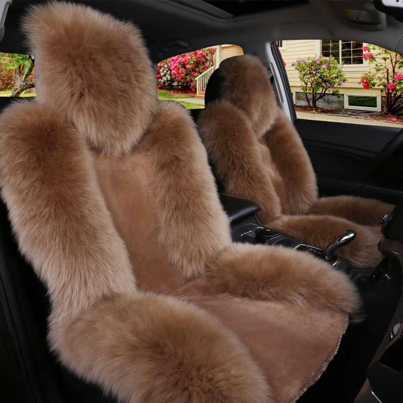 Автомобиль подушка зима оптовая торговля шерсть в первом ряду один один лист подушка плюш подушка общий крышка вата завод