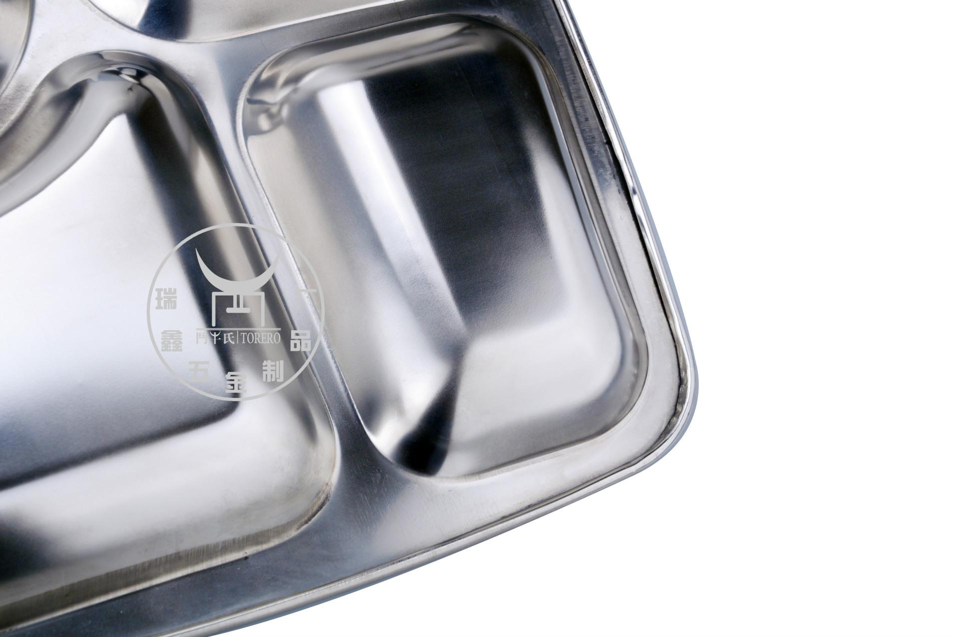 不锈钢快餐盘盘底细节