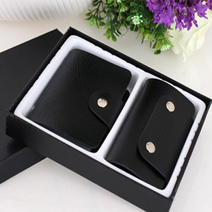2019 factory direct supply of new ladies leather card case key case package plus gift box candy color wholesale