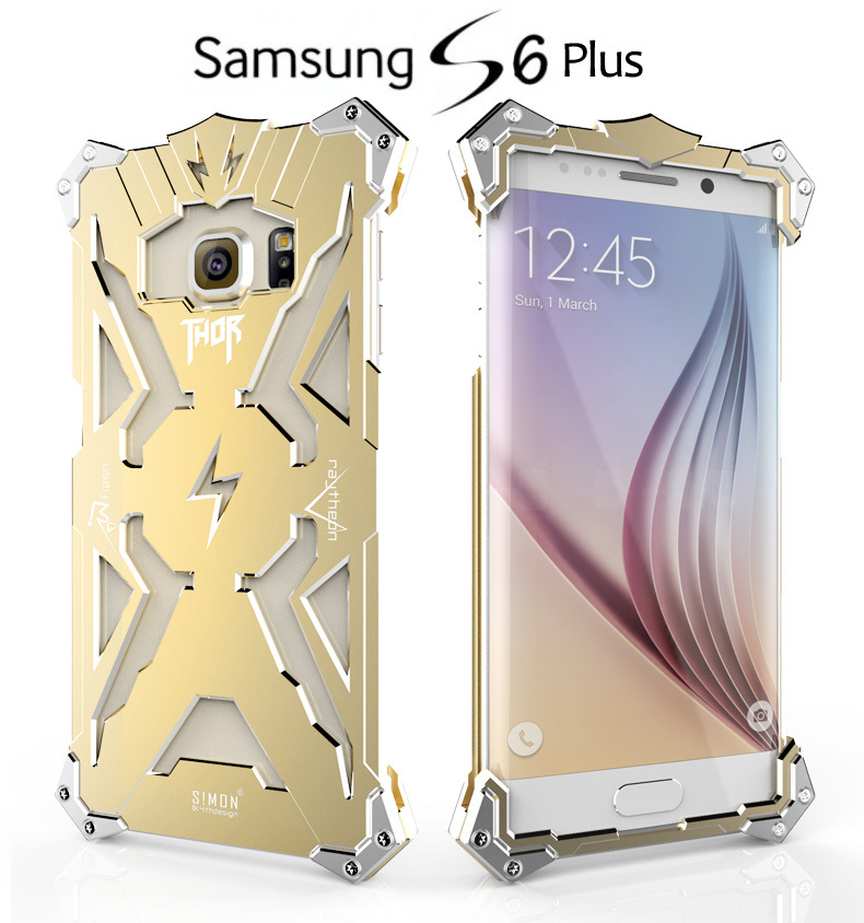 SIMON THOR Aviation Aluminum Alloy Shockproof Armor Metal Case Cover for Samsung Galaxy S6 Edge Plus