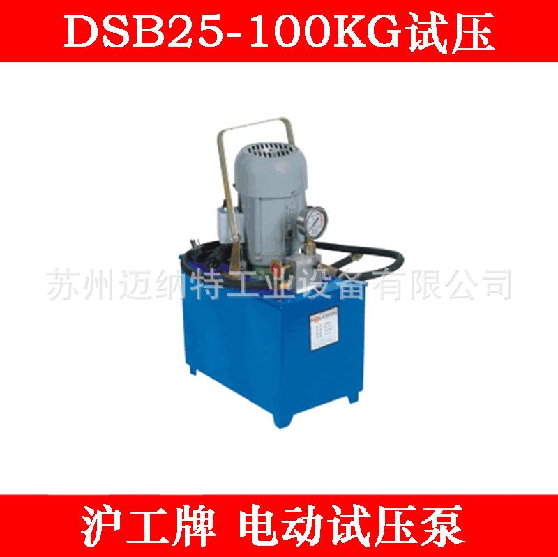 沪工牌 电动试压泵 管道测压 压力泵DSB100公斤试压工具
