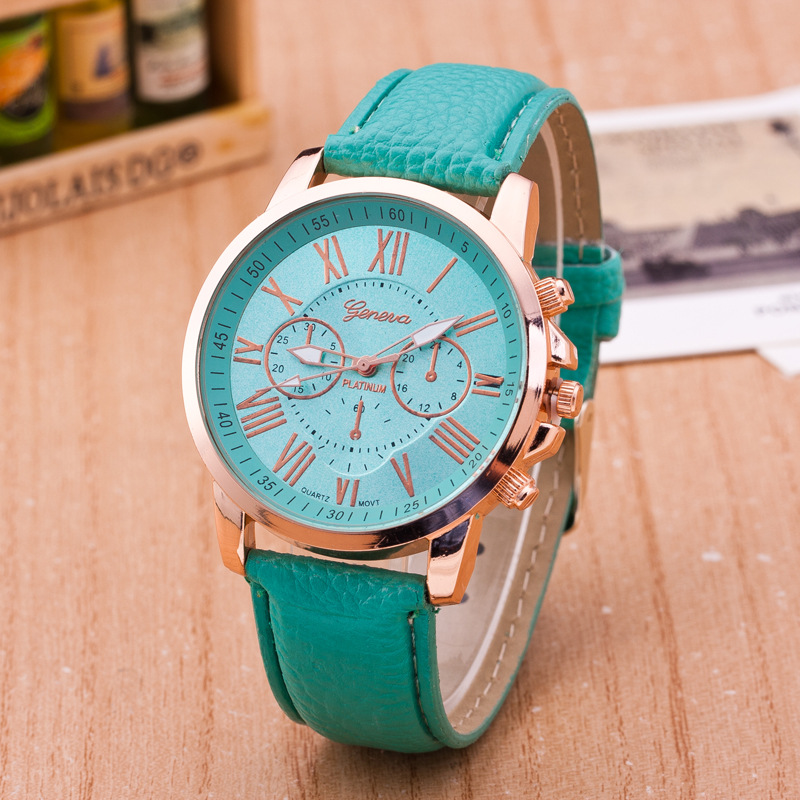category rose product louise quartz dress postage freddie archives faux leather flower incl geneva mint green watches watch