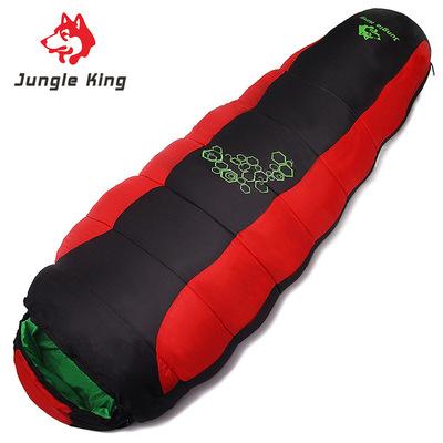 雪橇犬秋冬加厚填充四孔棉野营睡袋户外登山专用露营睡袋运动睡袋
