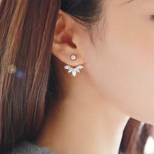 韩版热卖银针马眼锆石雏菊花朵耳钉 耳环批发 厂家直销 混批