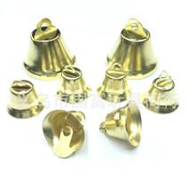 供应饰品配件圣诞配件开口喇叭铃铛 金属圣诞铃铛 钟形金银铃铛