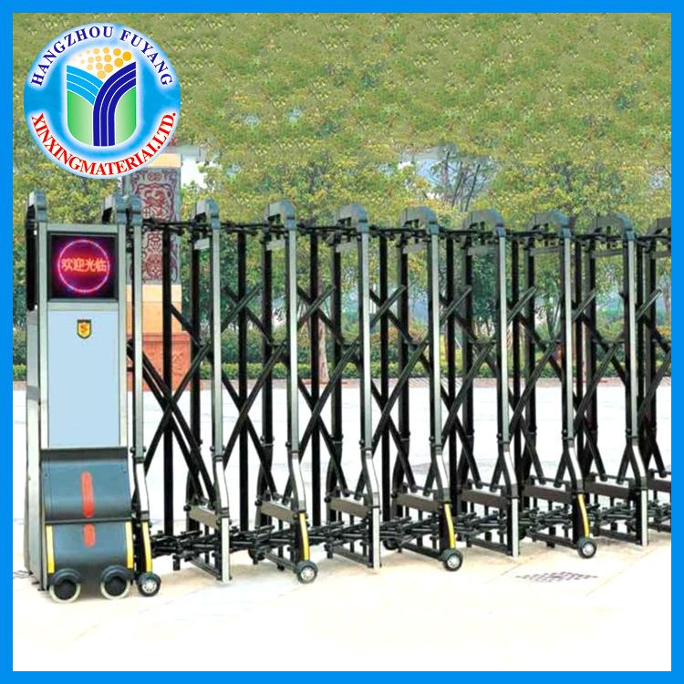 杭州电动伸缩门 工厂不锈钢伸缩门 单位大门电动遥控门