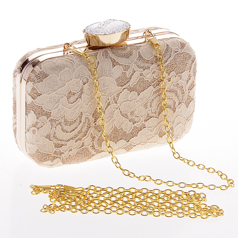 Fashion lace clutch bag evening party package NHYG139626