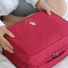 韩版旅行用品衣物收纳包套装 大容量拉杆箱分层整理袋手提包 L号