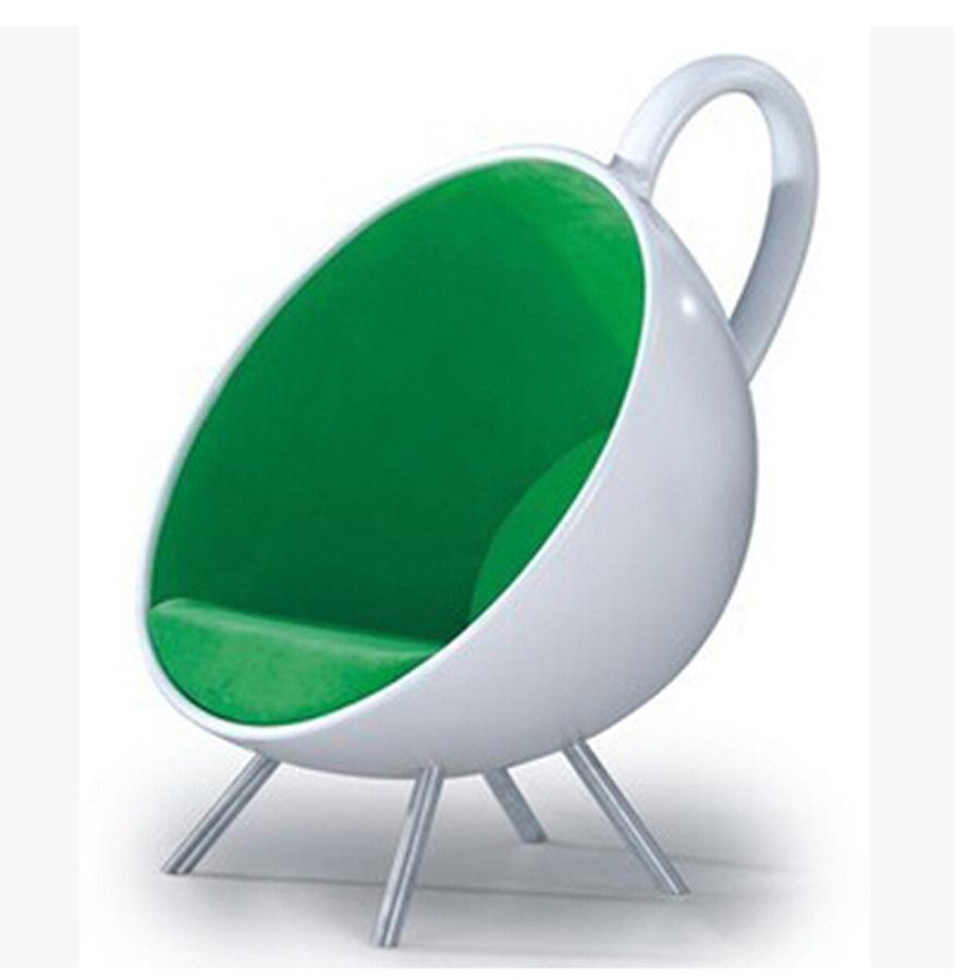 尼奥设计师懒人茶酒杯沙发椅 玻璃钢咖啡杯形单人休闲躺椅 商场椅