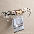 廠家直銷201不銹鋼衛生間置物架單雙三層衛浴五金掛件壁掛