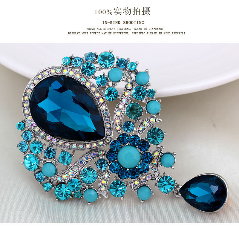 Occident alloy plating brooch NHDR0775