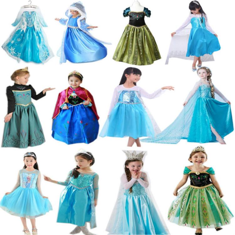 2020跨境欧美外贸礼服冰雪奇缘睡美人新款公主裙女童万圣节表演服