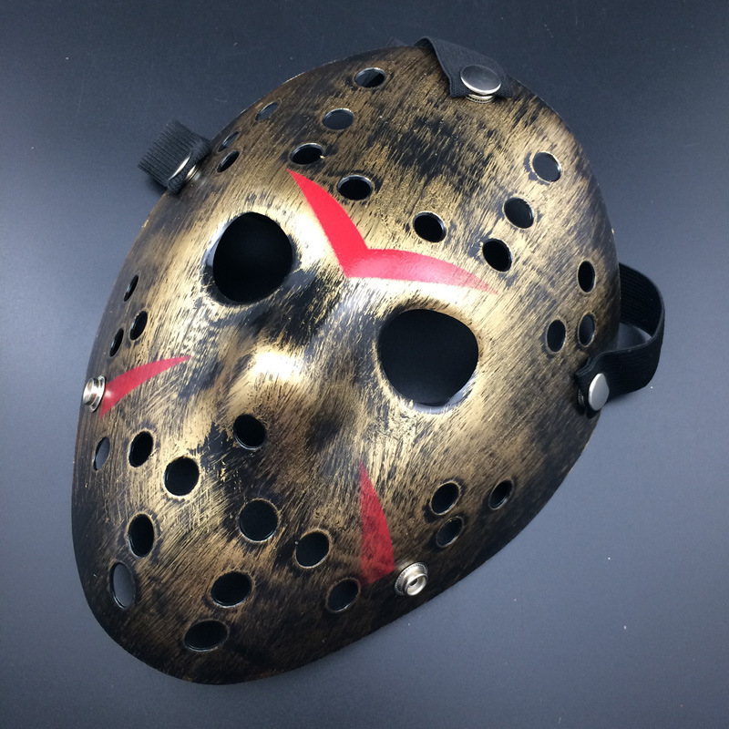 Halloween Hockey Masker.Archaistic Jason Mask Full Face Antique Killer Mask Jason Vs Friday The 13th Prop Horror Hockey Halloween Costume Cosplay Mask