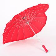 现货供应创意爱心形状晴雨伞 直杆心形广告伞 圣诞嘉礼可印logo
