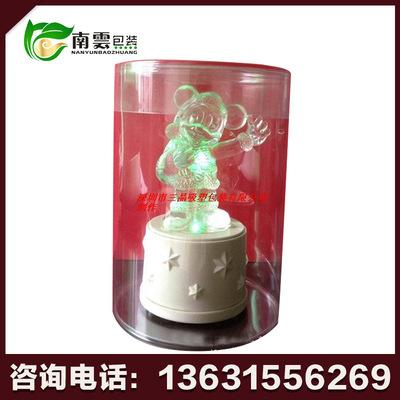 圆筒状彩色包装折盒  透明pvc包装折盒 深圳通用包装折盒
