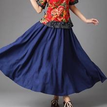 麻凡 波西米亚12片裙女式舞蹈裙 麻凡纯亚麻女式半身裙