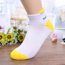 厂家批发 双色棉袜时尚双罗口袜 运动瑜伽健身休闲成人袜子批发