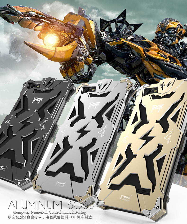 SIMON THOR Aviation Aluminum Alloy Shockproof Armor Metal Case Cover for Huawei Honor 4C