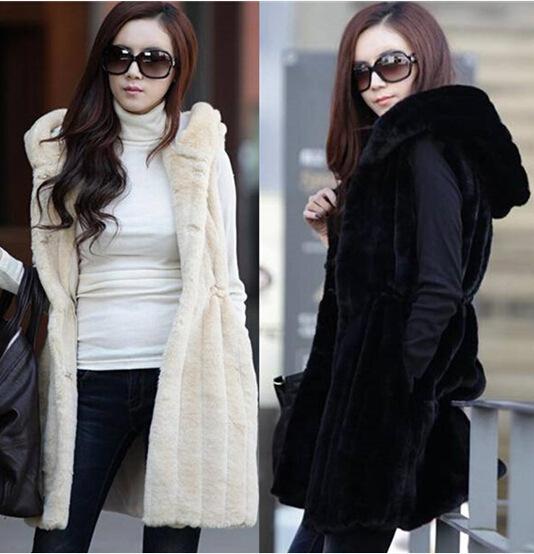 女装韩版仿皮草马甲中长秋冬新款兔毛绒毛毛皮草外套大衣