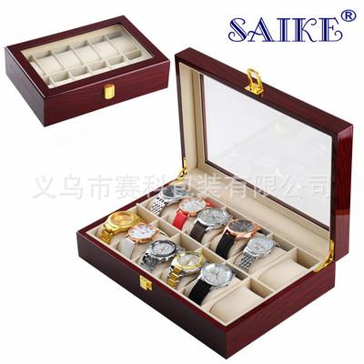 廠家現貨批發12位鋼琴漆手表盒木質手表盒高光烤漆手表收納盒箱子