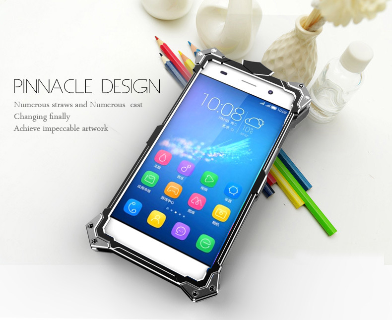 SIMON THOR Aviation Aluminum Alloy Shockproof Armor Metal Case Cover for Huawei Honor 4A