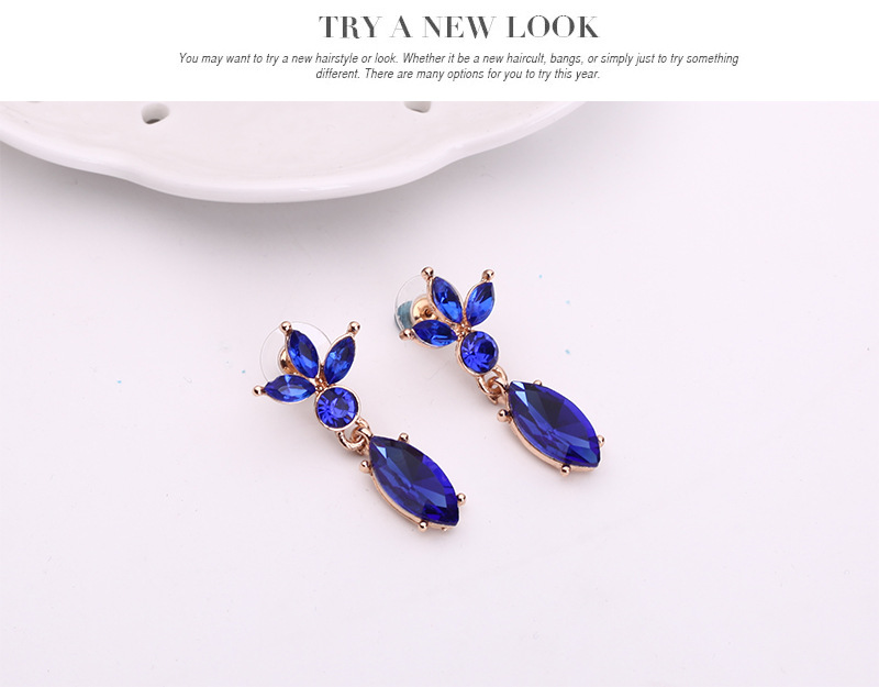 Occident alloy Drill set earring + necklace NHXS0747