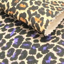 12安帆布豹纹印花面料 鞋子箱包沙发座椅购物袋布料 厂家现货直销