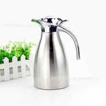 厂家批发不锈钢单层咖啡壶 酒店大厅客房保温瓶 家居礼品热水壶